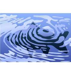 rippled fish vector image vector image