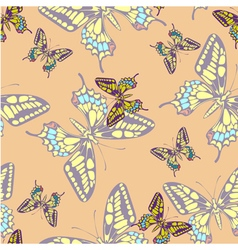 seamless pastel butterfly pattern wallpaper vector image