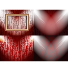 Set of colorful abstract backgrounds and frames vector image
