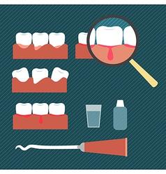 Showing gum disease vector