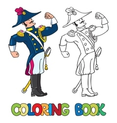 Strong brave general or officer coloring book vector