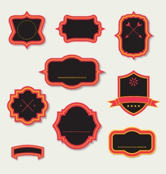 Stylized retro frames and labels vector