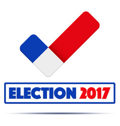 Symbol of election 2017 in france vector