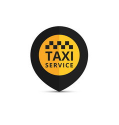 taxi cab logo design taxi point graphic icon vector image