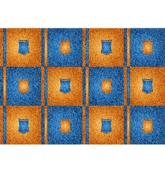 texture grain orange and blue vector image