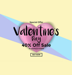 valentines day card or sale banner 5 vector image vector image