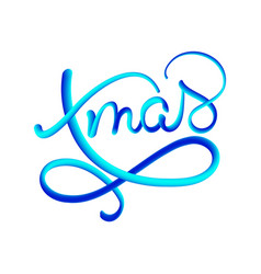 xmas blue gradient text on dark brown vector image