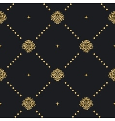 Seamless pattern with golden ornament vector image