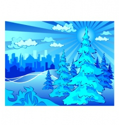 winter park in city vector image