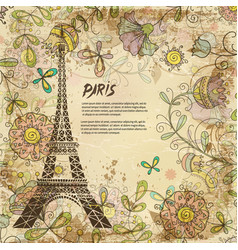Eiffel tower paris background vintage vector