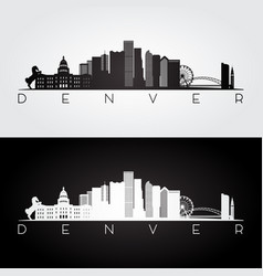 Denver usa skyline vector