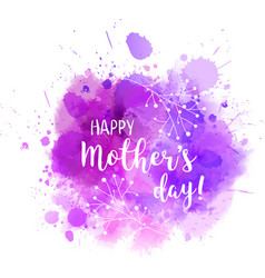 Mothers day purple blot florals vector