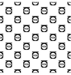 pizza box cover pattern vector image