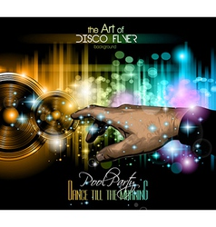 Disco Flyer - Stunning Speakers with a pointing vector image