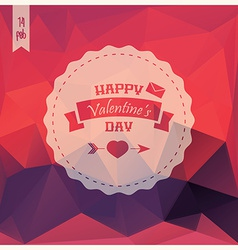 Valentines day card label design pattern vector