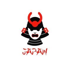 isolated samurai mask on white vector image