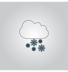 Cloud and snowflakes vector