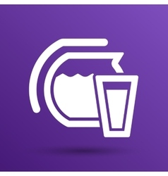 Glass pitcher logo icon compote juice vector