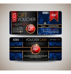 Voucher gift card layout template for your vector