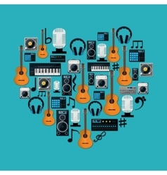 Music technology equipment vector