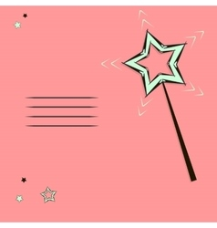 Magic wand card vector