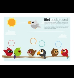 birds on branches background vector image