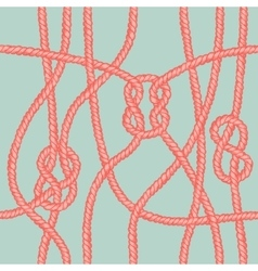 Marine rope knot seamless pattern vector