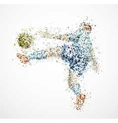 Abstract football player3 vector