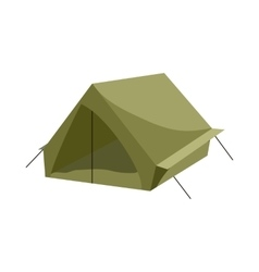 Hiking tent icon cartoon style vector image