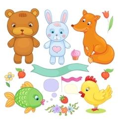 animals set vector image vector image