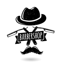 Barbershop hipster logo vector
