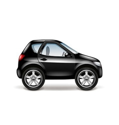 Black car profile isolated on white vector image vector image