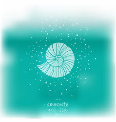 blurred with ammonites vector image