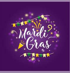 Carnival mardi gras greeting card with typography vector