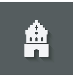 catholic church religious symbol vector image