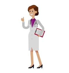 Detailed doctor character woman vector