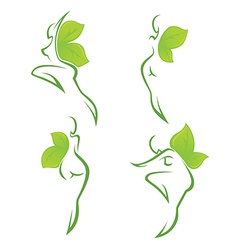 eco girls vector image vector image