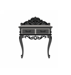 Elegant commode table vector