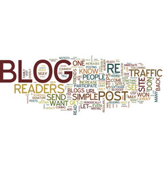 Five steps to increase traffic to your blog text vector