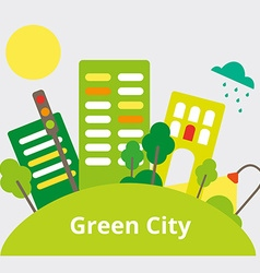 GreenCity vector image