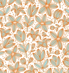 Lined floral pattern vector image vector image