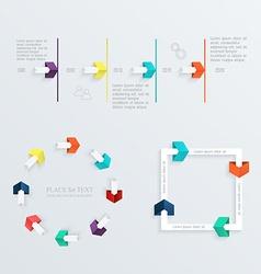 Minimal infographics design set vector image vector image