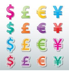 money currency symbols vector image