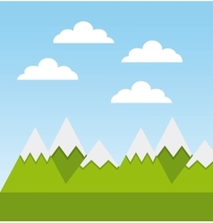 Mountains landscape design vector