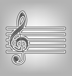 Music violin clef sign g-clef pencil vector