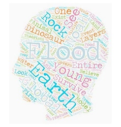 Noah s flood text background wordcloud concept vector