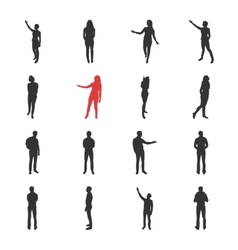 People male female silhouettes in different vector image vector image