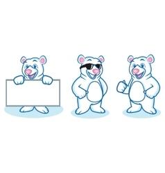 Polar bear mascot happy vector