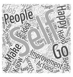 Self Improvement Word Cloud Concept vector image