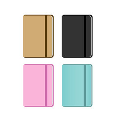 set of notebooks vector image
